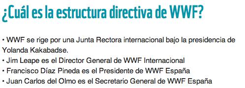estructura directiva WWF