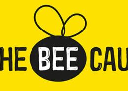 Bee-cause-logo_white-on-yellow710px