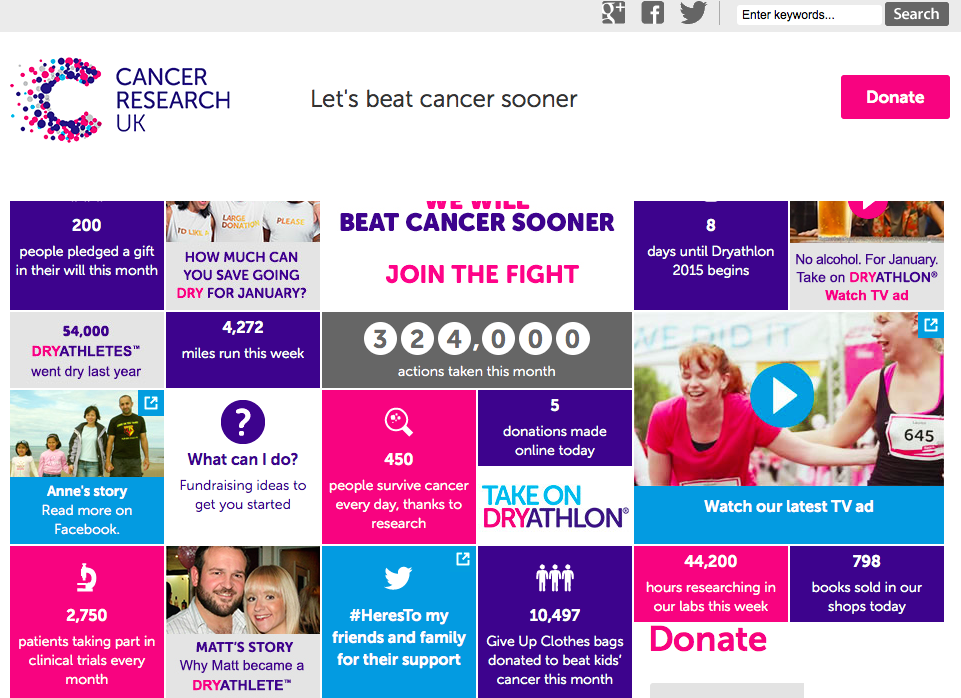 Cancer UK web
